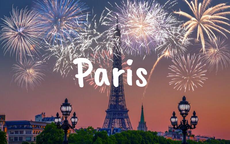 Paris nyårsafton resa